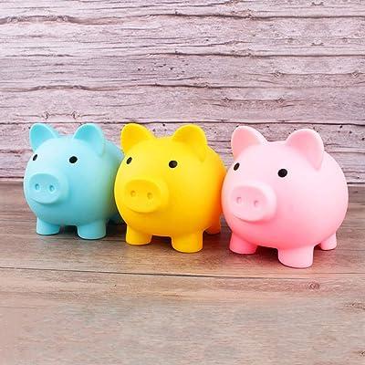 Kids Cute Piggy Coin Bank Girls Boys Nursery Saving Pot Money Plastic Bank Gift
