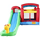 Costzon Inflatable Moonwalk Water Slide Pool Bounce House Jumper Bouncer Castle Without Blower