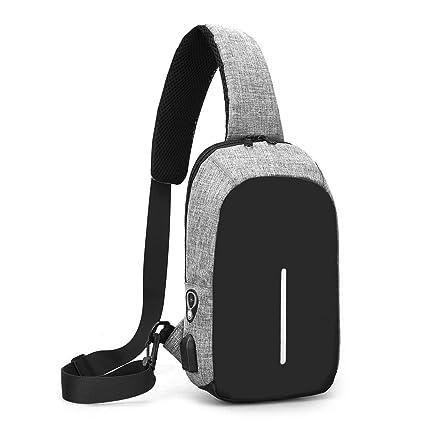 15fb308f6 Sling Bag with USB Charging Port & Headphone Hole, Smart Crossbody Bag  College School Chest