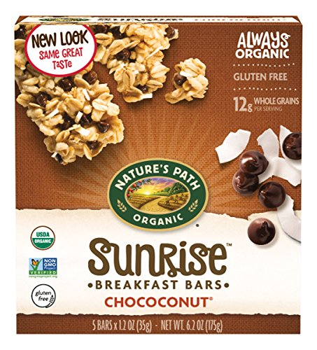 Chip Chewy Granola Bars (Nature's Path Organic Chewy Granola Bars, Dark Chocolate Chip, Chococonut, 6.2 Ounce Box (Pack of 6))