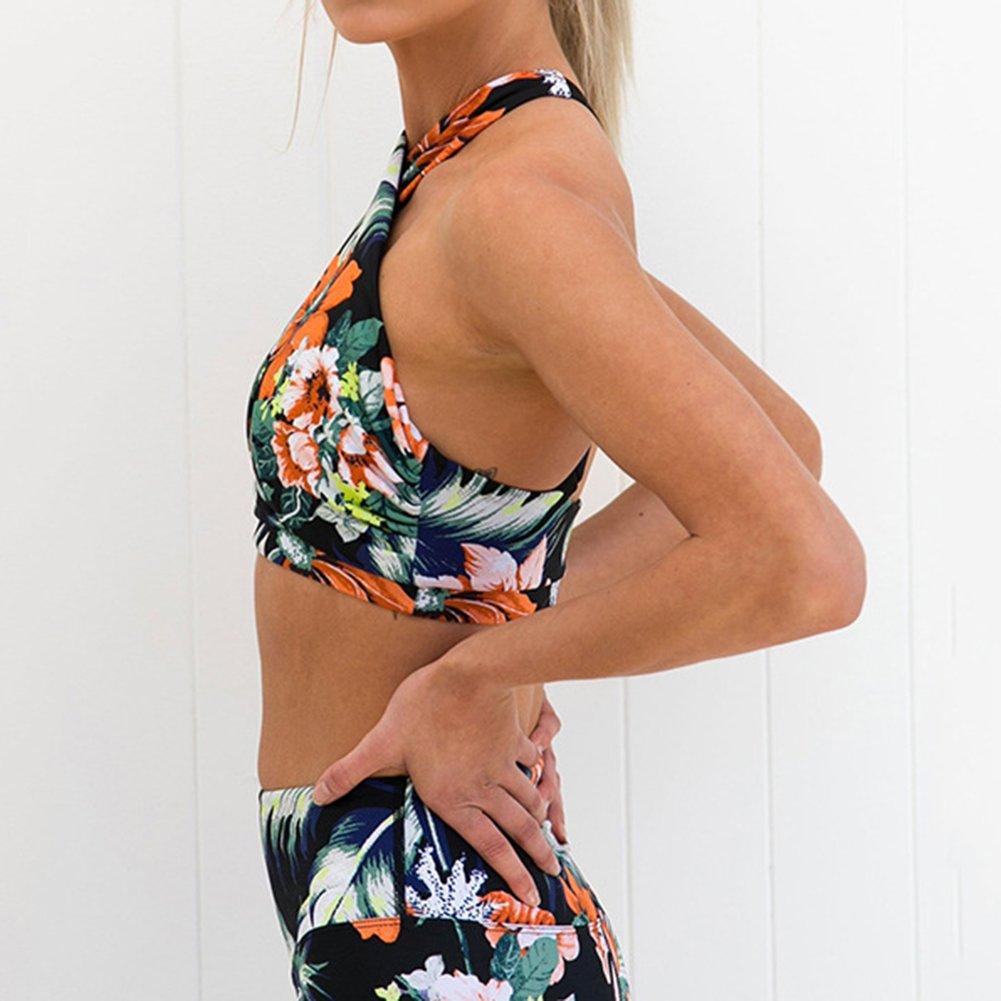 Kootk Formazione Suit Donne Due Pezzo Suit Yoga Palestra Esecuzione Impostato Fitness Abbigliamento Sportivo Bra Sport Pantaloni Ghette Jogging Allenarsi Ouftis Sport Capi Abbigliamento Imposta