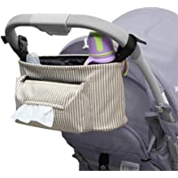 Practical Outdoor for Stroller Universal Stroller Mint stripes Durable Movable Baby Stroller Organizer