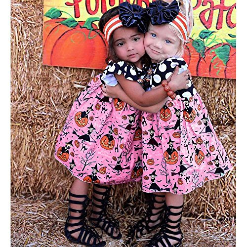 Old Navy Frog Costume 4t (Halloween Girls Dress, AMA(TM) Toddler Kids Baby Girls Halloween Party Pumpkin Cartoon Princess Dress Outfits Clothes (4T, Pink))