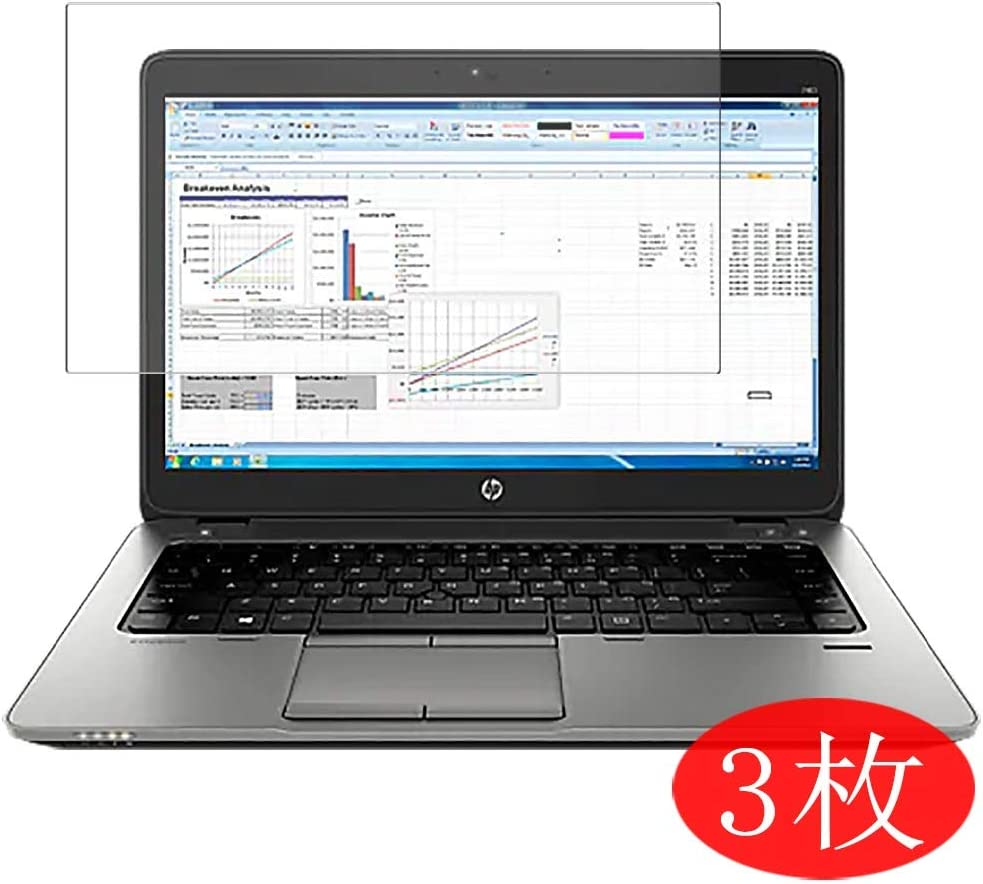 """【3 Pack】 Synvy Screen Protector for HP EliteBook 725 G2 12.5"""" TPU Flexible HD Film Protective Protectors [Not Tempered Glass]"""