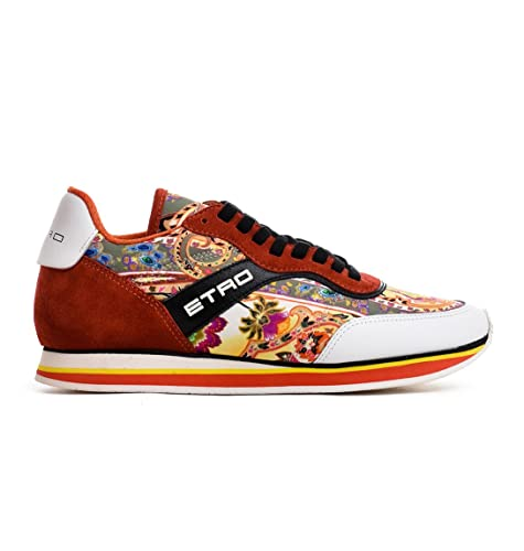quality design b30e9 e57da Etro Sneakers Donna 120472425750 Pelle Arancione: Amazon.it ...