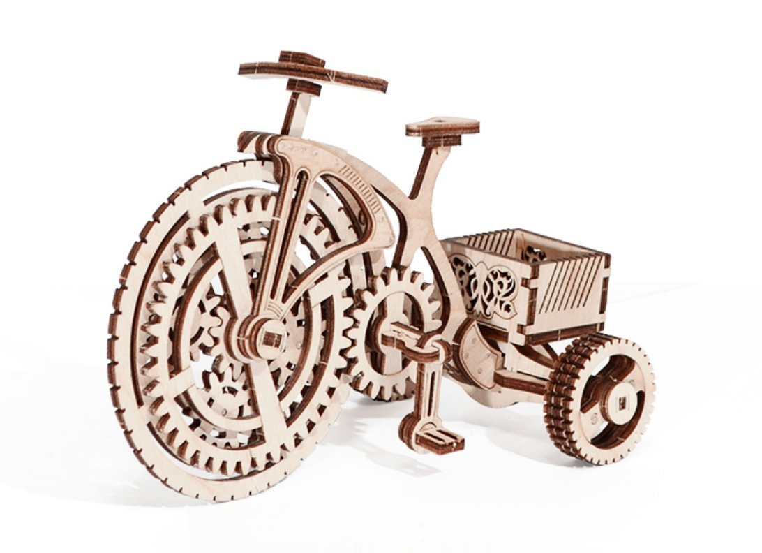卸し売り購入 木製Trick 木製Trick Mechanical木製3dパズル自転車Constructionセット B07CYVBNRJ, 開聞町:2f20e15c --- a0267596.xsph.ru