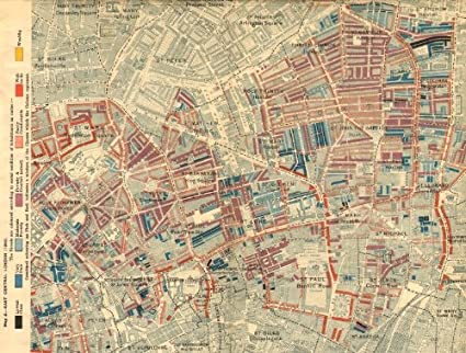 Map Of London 1900.Hoxton Clerkenwell Charles Booth Poverty Map Old Street St Luke S