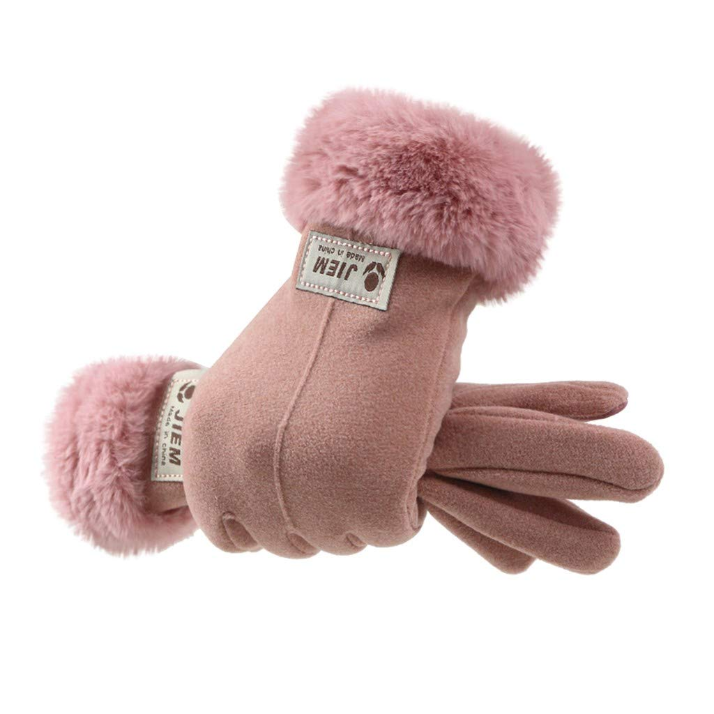 Chezaa Winter Gloves Touch Screen Warm Thermal Soft Lining Gloves Mittens Elastic Cuff Waterproof /& Windproof Snow Anti Slip Lightweight in Cold Weather for Women Girls Outdoor Cycling Running