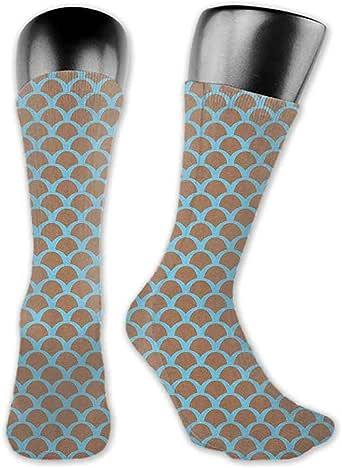 """Pattern Socks,Socks Women,Sock Women,Doodle,Pale Blue Pale Green Dried Rose3.3""""X11.8""""(Short Socks)"""