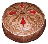Moroccan Poofs Hand Made 100%Leather Ottoman Comfortable Round Design Foot Stool For Sale