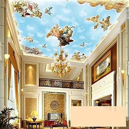 Lwcx Large Custom European Style Angel Ceiling Mural