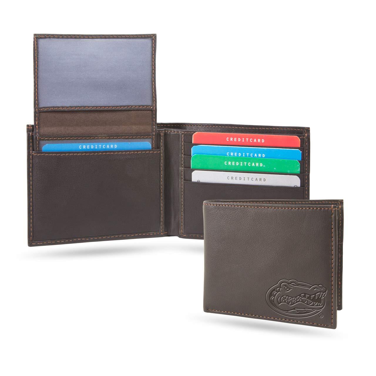 Florida Gators NCAA RFID Blocking Shield Leather Billfold Wallet
