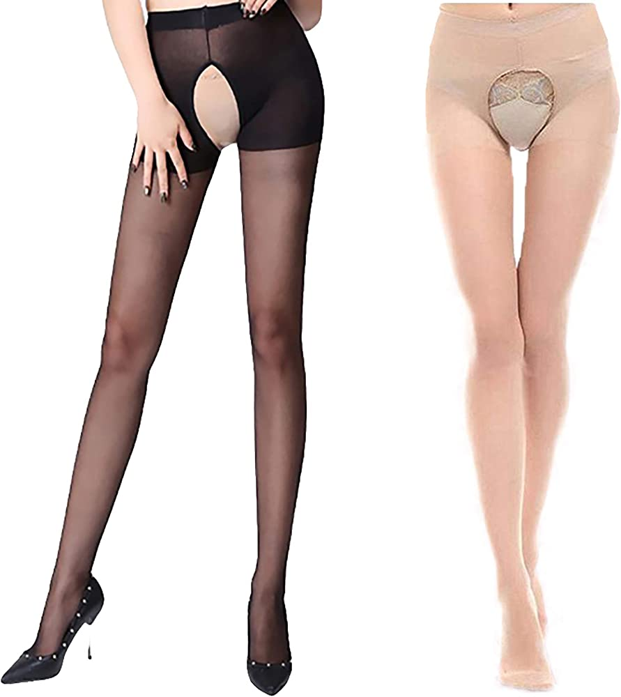 Mens Male Sheer Waist Pantyhose Tights Stretchy Stockings Nylon Black New Style