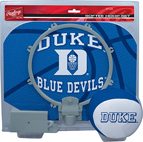 NCAA Duke Blue Devils Kids Slam Dunk Hoop Set, Blue, Small ()