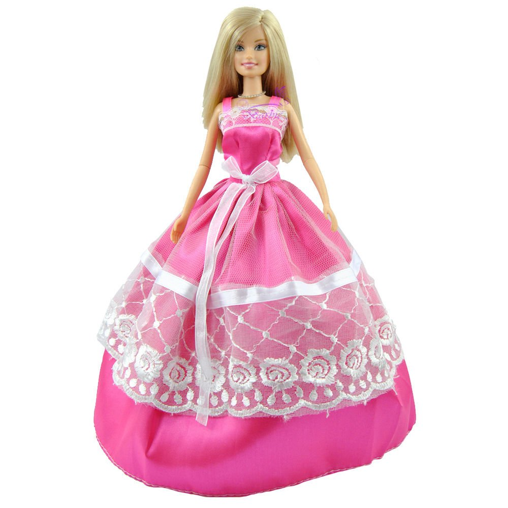 5 Ball Gowns, clothes Princess Dresses for Barbie sized dolls (Not ...