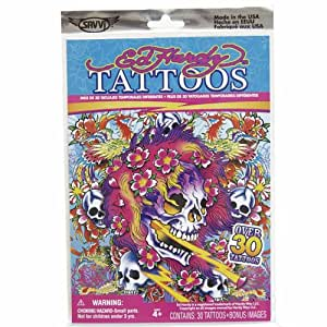 14191 Ed Hardy Temporary Tattoos, Style 4 of 4, Over 30 Tattoos by Savvi