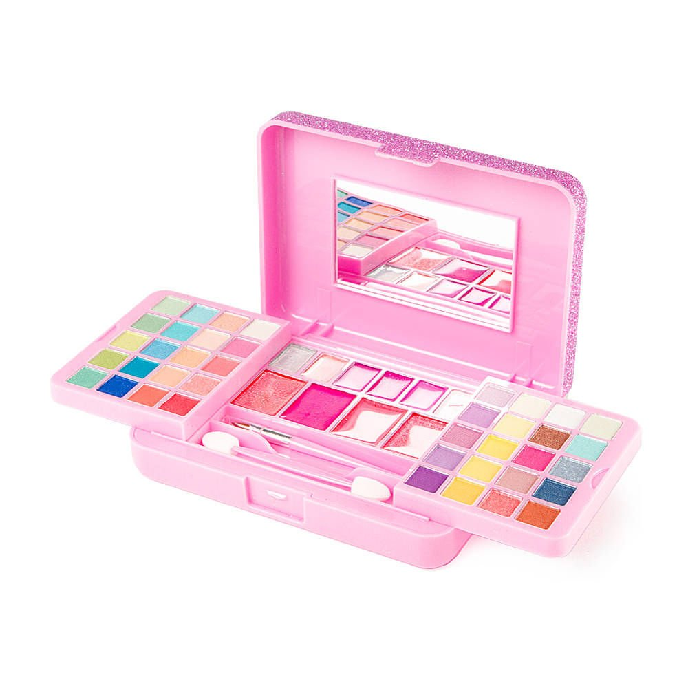Claire's Girl's Claire's Pink Glitter Palette with Eyeshadow & Lip Gloss Birthday Christmas Stocking Filler Claire's