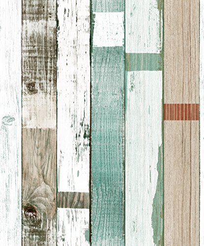 Haokhome 69020 vinyl vintage faux wood panel wallpaper for Wooden wallpaper price