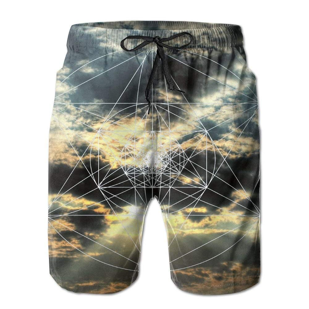 Liang Blue Whale Mens Swim Trunks Summer 3D Print Graphic Casual Athletic Swimming Short