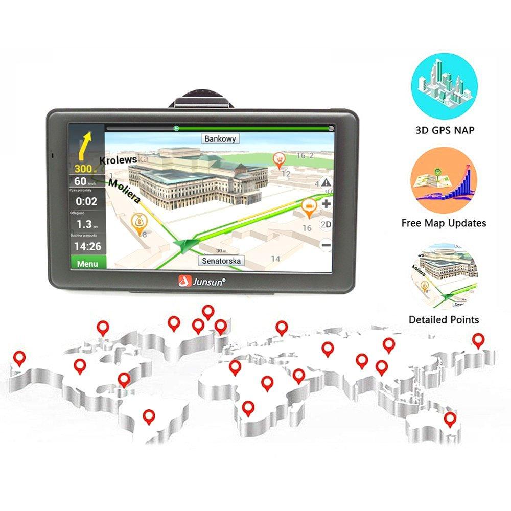 junsun portátil Android 7 pulgadas 8 GB sistema táctil táctil capacitiva de navegación GPS GPS Sat Nav Lifetime Maps: Amazon.es: Electrónica