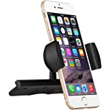 CD Slot Mount,Mpow Universal CD Slot Car Mount Phone Holder Car Cradle With Spring Holder, 360 Degree Rotation for iPhone 7/7 Plus/6/6S/6S Plus/5/5S, iPod Touch, LG/G3, Nexus4/5, HTC, Motorola, Sony & GPS Devices