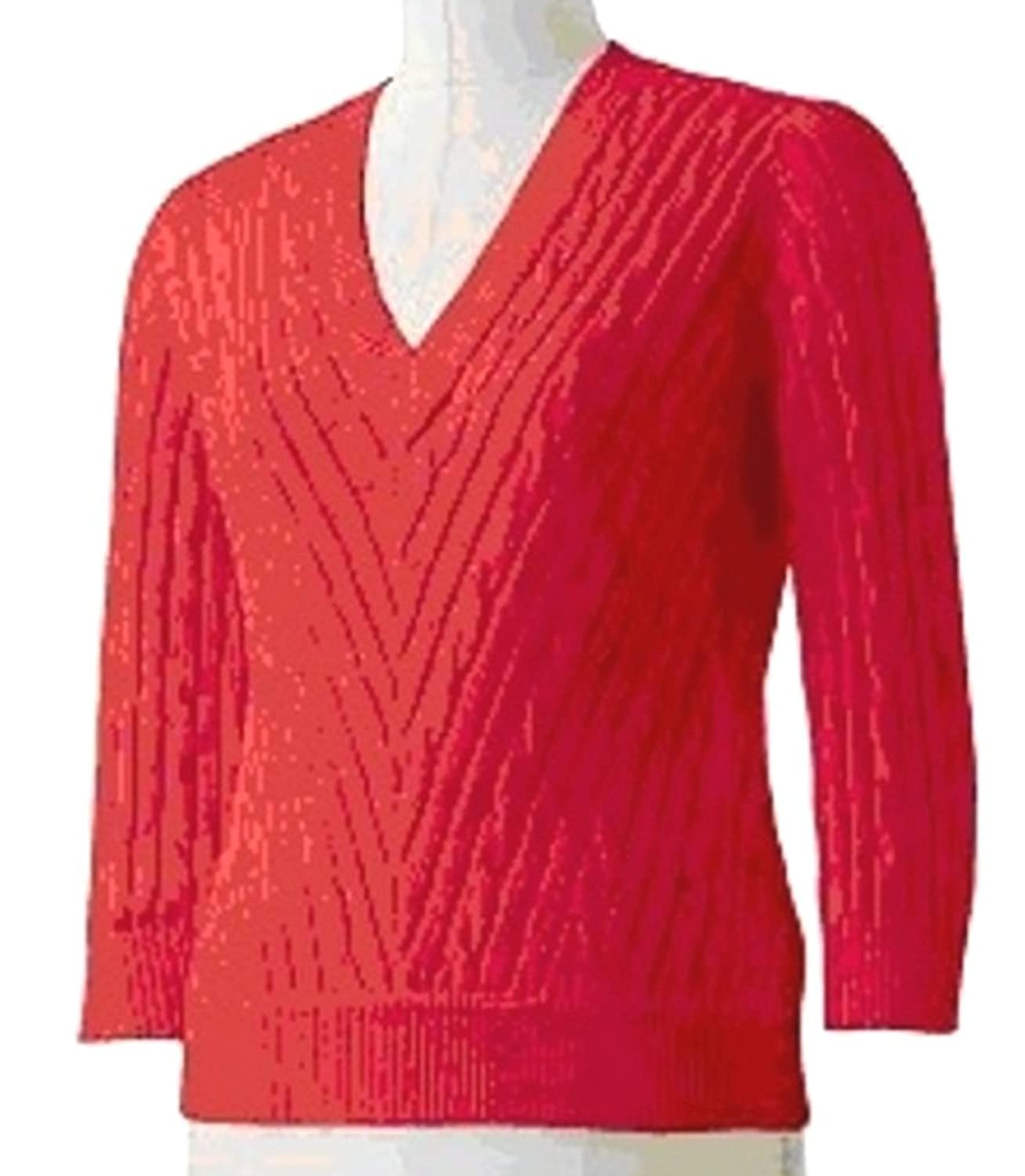 CHAPS Womens Cable Knit Sweater Small Med Large Romantic Red ...