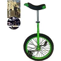 Monocycle Dodo 20 pouces (50cm) VERT pour les enfants à partir de 11 ans + DVD offert