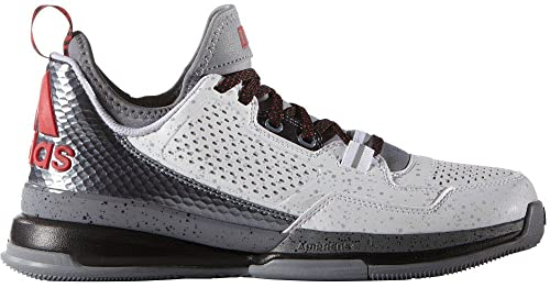 low priced 2cd1f 15c00 adidas Men s D Lillard White Grey Scarlet Athletic Shoe