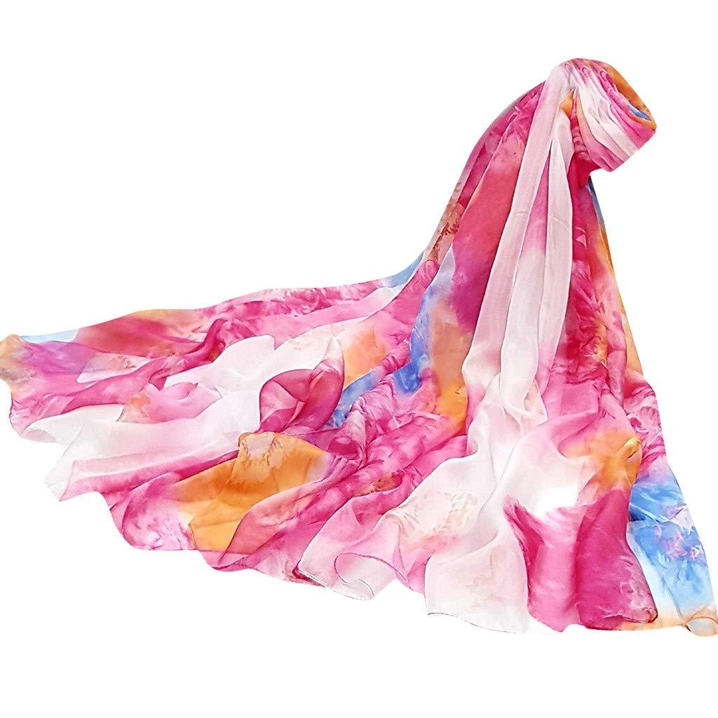 Women Scarf Ladies Scarf Flower Sunscreen shawl Wrap Silk Shawl Scarves Beachwear Boho Scarf YOcheerful Sales