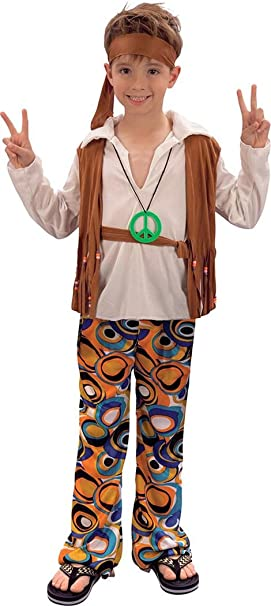 Disfraz de hippie para niños, estilo años 70: Amazon.es: Ropa y ...