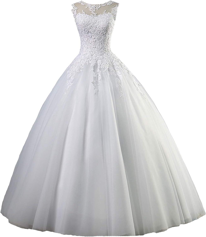 Amazon Com Yuxin Appliques Lace Ball Gown Wedding Dresses 2020 Plus Size Vintage Princess Bridal Gowns Clothing