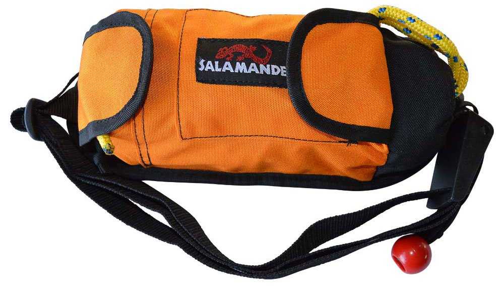 Salamander Retriever Kayak Rescue Throw Rope Bag & Tow Tether