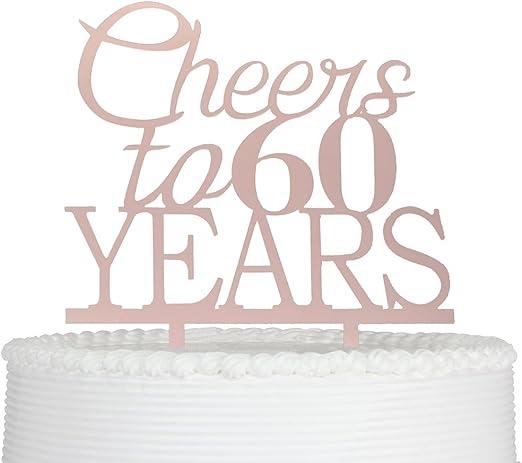 Amazon.com: Decoración para tartas de 60 años para ...