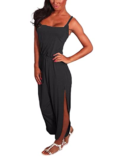 2f9e94e4ae82 Image Unavailable. Image not available for. Color  ZANZEA Women s  Sleeveless Jumpsuit Romper Playsuit Trousers Long Pants ...