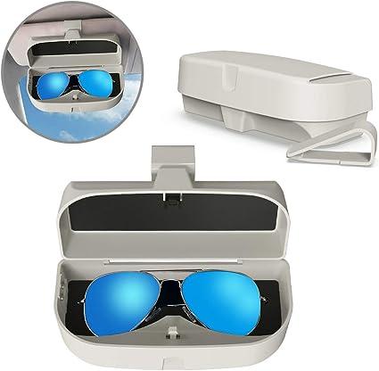 MoKo Caja de Gafas para Coche Universal, Estuche para Gafas de Sol ...