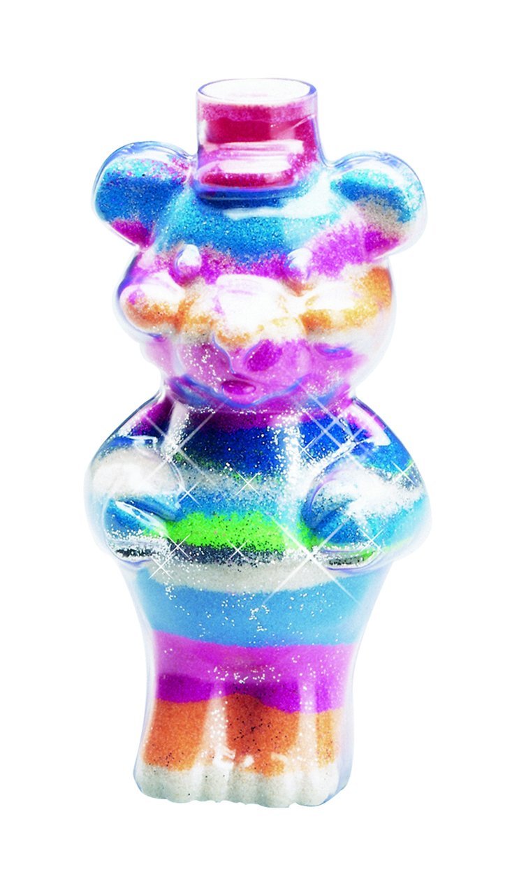 AMAV Sand Art Glitter and Glow Activity Kit DIY Make Your Own Beautiful Colorful Sand Art in Bottle AMAV Toys 3212