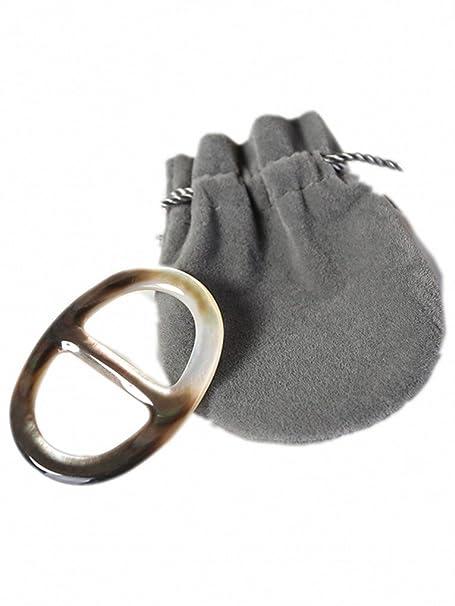 Prettystern - bufanda de la perla anillo de toalla de golf concha pulida anillo de la mano noble - opción del tamaño: Amazon.es: Ropa y accesorios