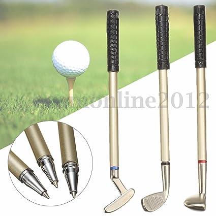 3pcs Mini golf club Putter bolígrafo bolígrafos de punta de ...