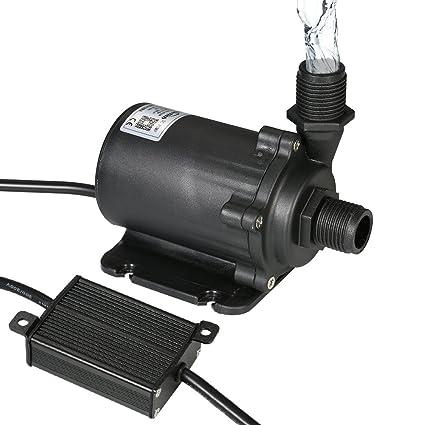 Decdeal Bluefish12V DC Bomba de Agua sin Cepillo,Bomba Sumergible para Acuario y Sistemas Hidropónicos