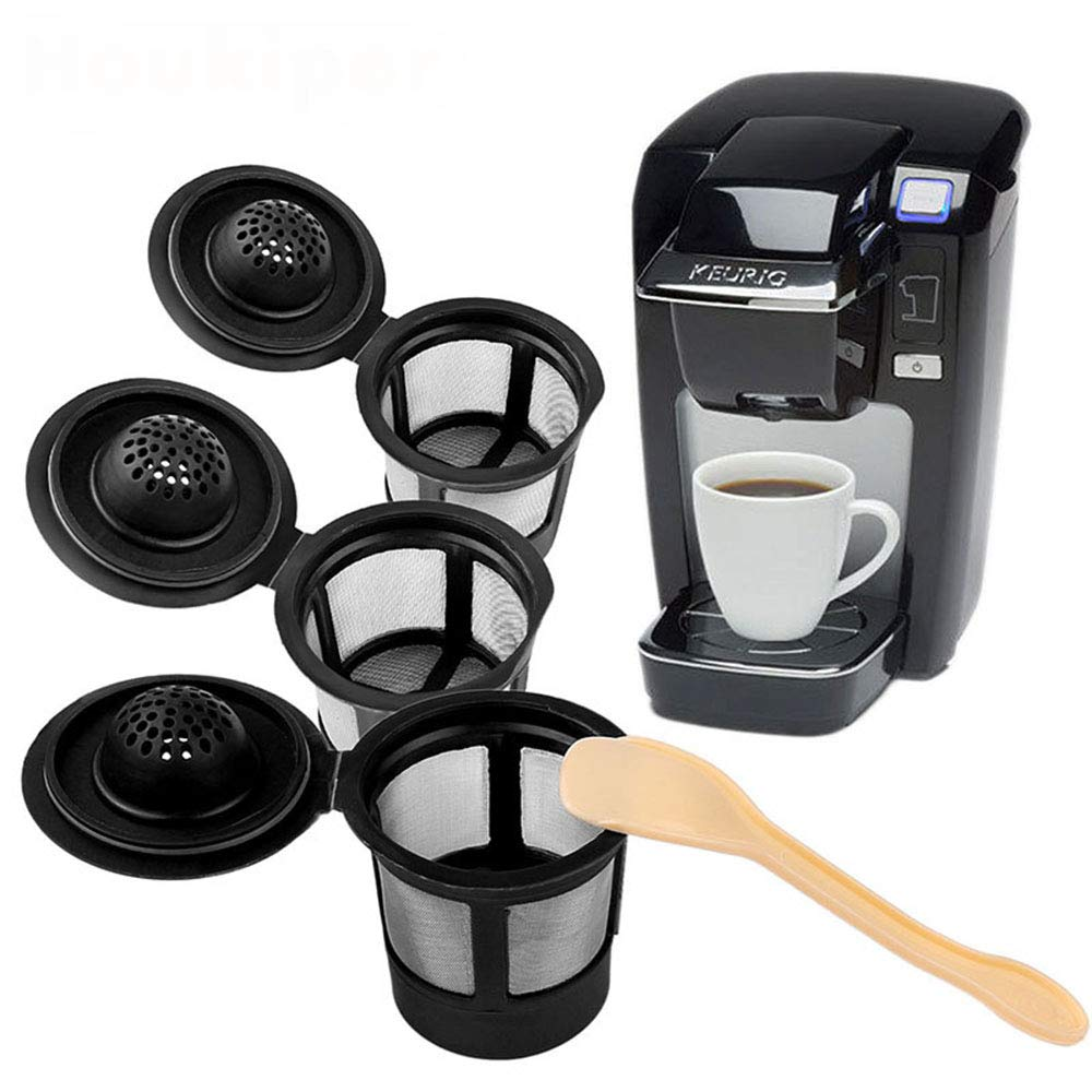 3PCS Coffee Filter, Reusable Replacement, Refillable Capsules Holder With Spoon For Keurig K-Cups