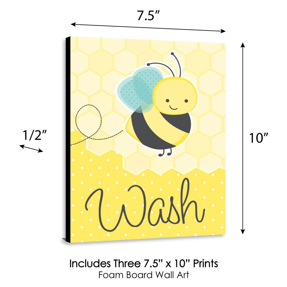 "Amazon.com: Honey Bee - Kids Bathroom Rules Wall Art - 7.5"" x 10 ..."