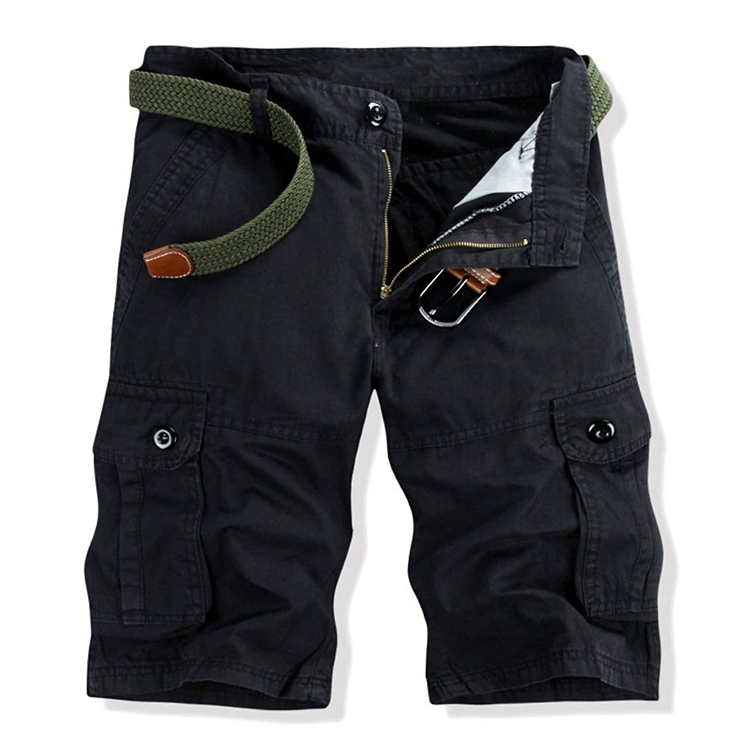 Lastest Men Cotton Pockets Camouflage Overalls Outdoor Army Shorts Fifth Pants