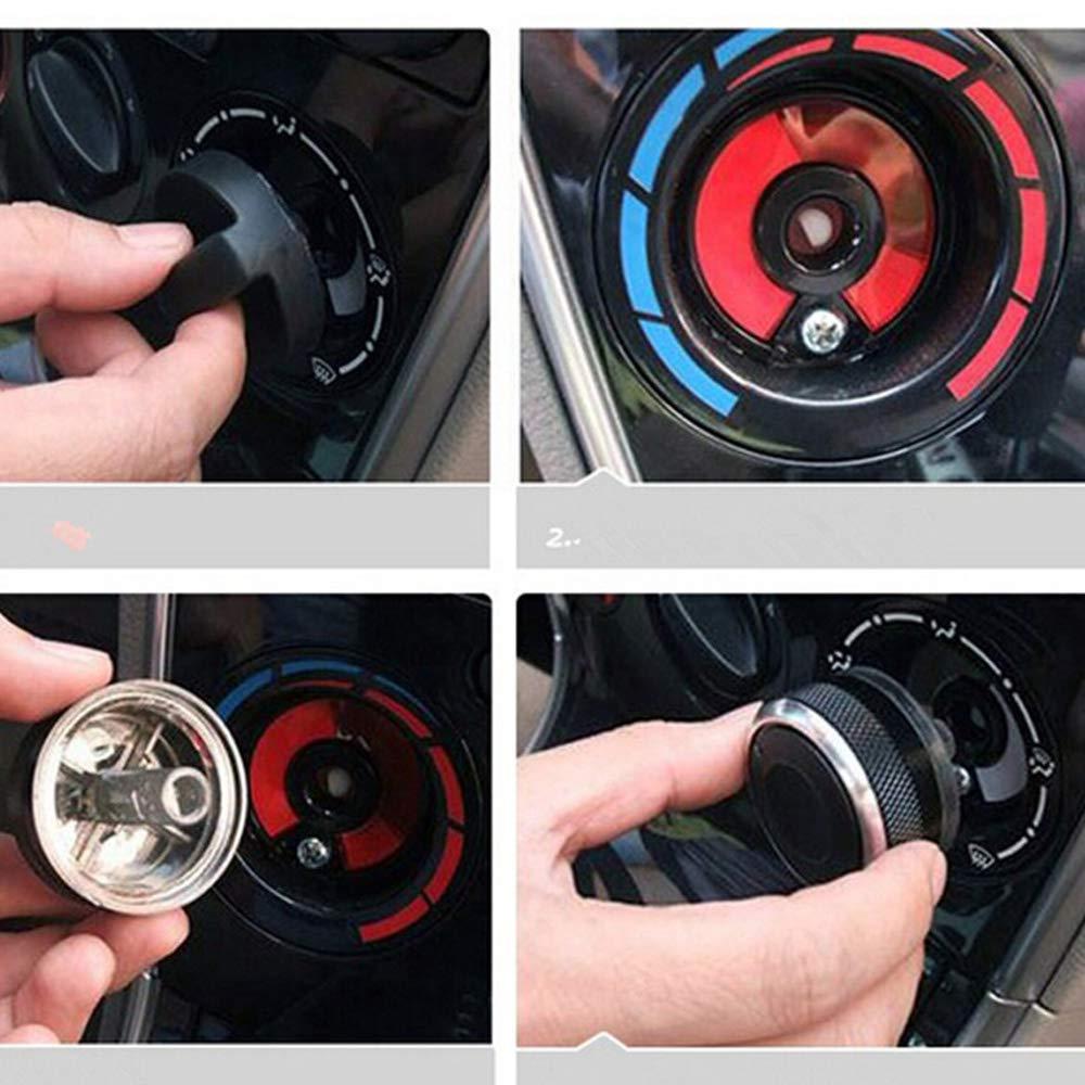 PolarLander 3pcs Bouton climatisation Interrupteur de Commande de Chaleur Bouton en Alliage daluminium Accessoires de Voiture pour v//w Polo 2004-2013