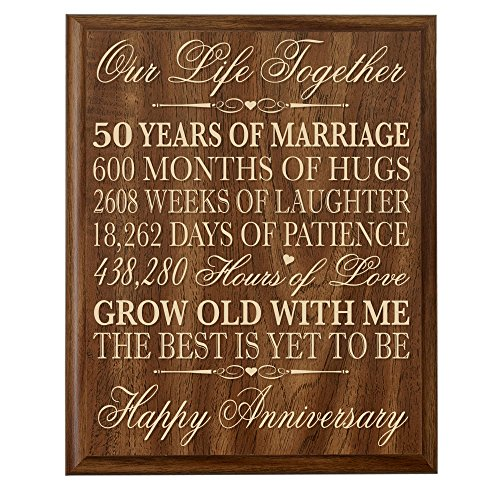 50th Wedding Anniversary Wall Plaque Gifts for Couple 50th Anniversary Gifts for Her 50th Wedding Anniversary Gifts for Him 12