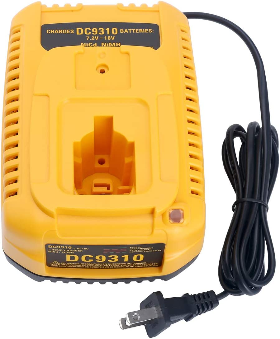 Elefly DC9310 7.2 Volt-18 Volt Fast Replacement Battery Charger for DEWALT 7.2V-18V NiCad & NiMh Battery DW9057 DC9071 DC9091 DC9096 DW9072 DW9091 DC9099 DW9099 US Plug
