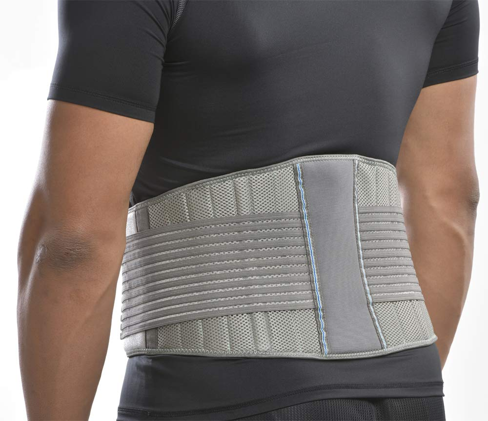 BraceFX Back Support, Features 8 Stays for Lumbar Support, Protects Back and Relieves Pain from Strains, Secondary Straps for Compression, Small