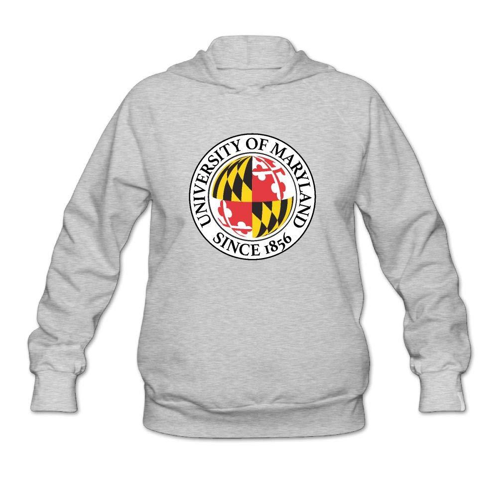QTHOO Women's University of Maryland Since 1856 Long Sleeve Hooded Sweatshirt