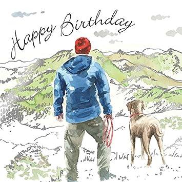 twizler Happy Birthday Karte für Ihn mit Grün & Silver folieren ...