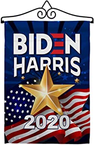 2020 Vote President Garden Flag - Set Wall Hanger Patriotic Democrat Republican Tea Party United State American Election - House Banner Small Yard Gift Double-Sided 13 X 18.5