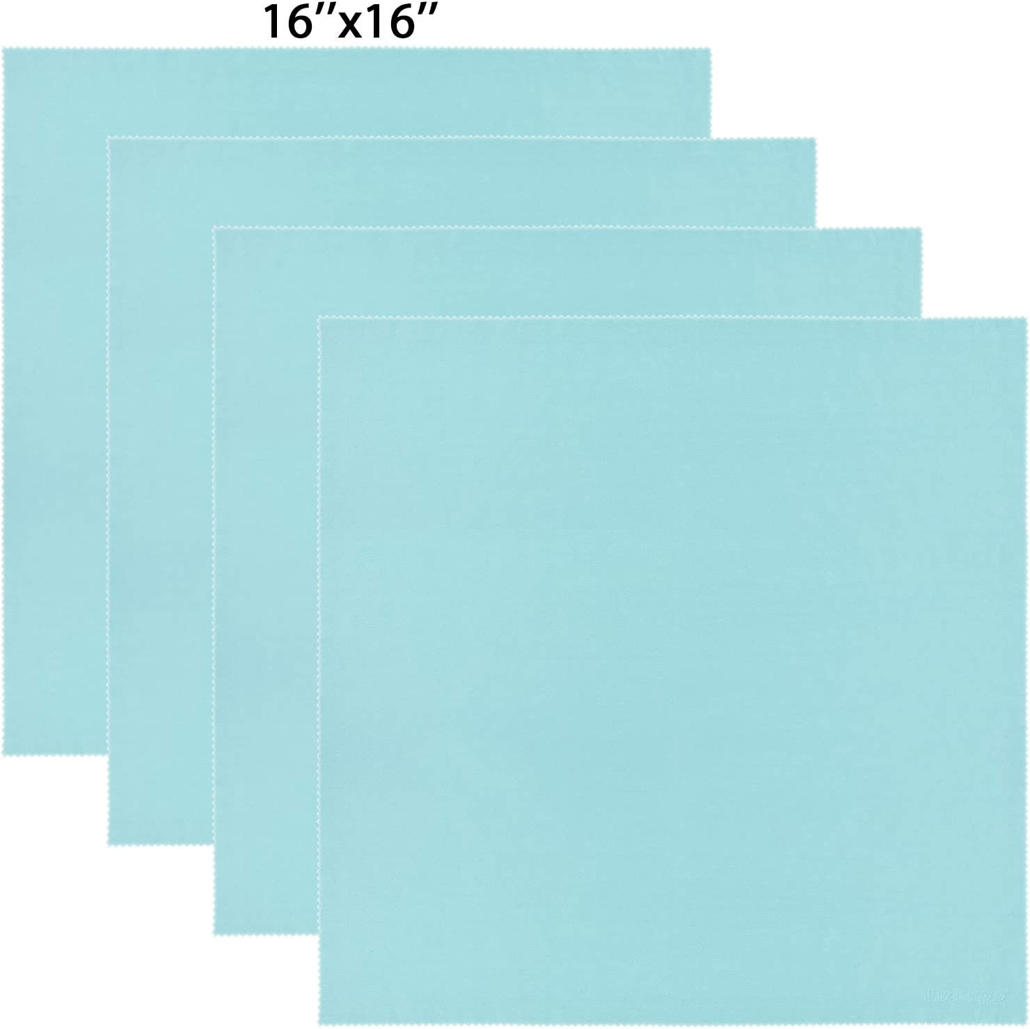 Wisdompro Extra Large 4-Pack Microfiber Cleaning Cloth For Laptop, LCD TV, Computer Screen, Monitor, Tablet, Camera Lens, Glass, Lenses, Phone, iPhone, iPad, other Delicate Surface - Mint (16x16 Inch)